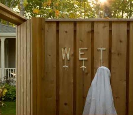 An Outdoor Shower