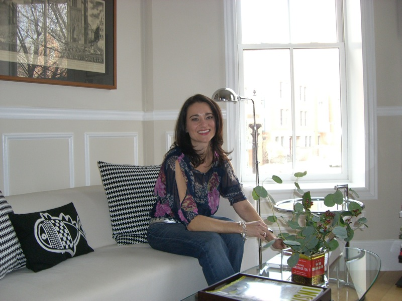 Kara on sofa