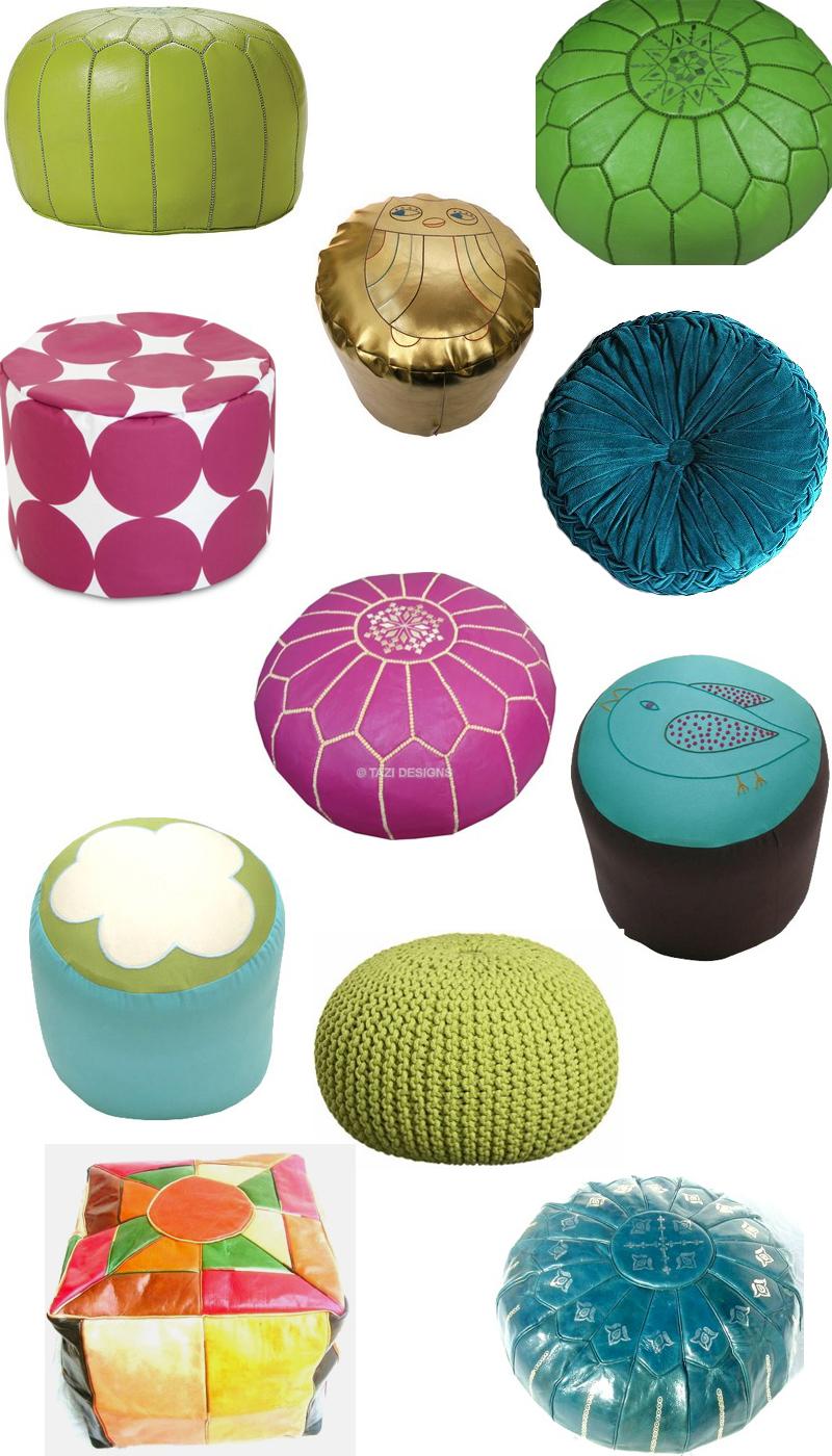 get the look 31 poufs stylecarrot. Black Bedroom Furniture Sets. Home Design Ideas