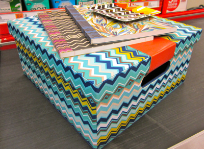 zigzag missoni storage box