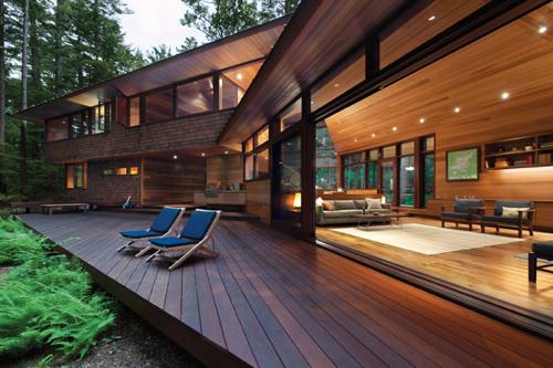 Design diary sleek cabin on squam lake by tom murdough for In home design boston