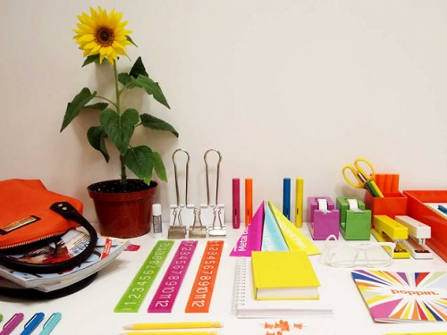 giveaway colorful office supplies by poppin stylecarrot