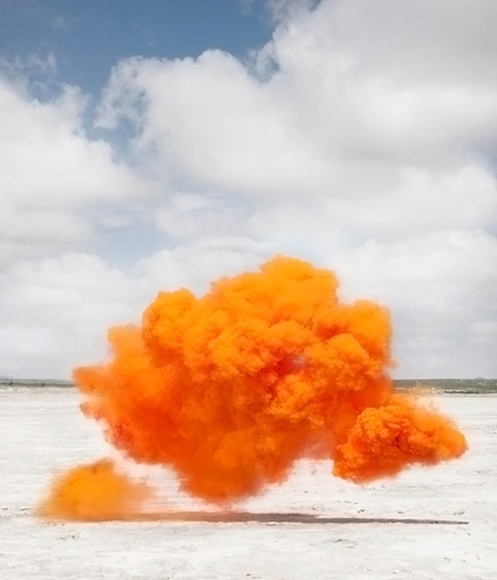 COLORED SMOKE LOLA GUERRERA PHOTOGRAPH LANDSCAPE