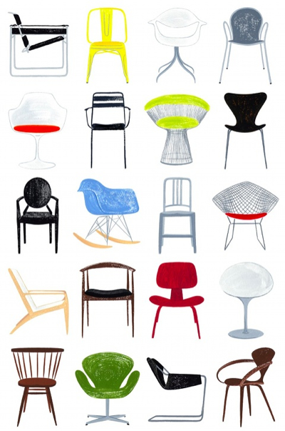 Artmonday 20 Illustrated Arrays From Modern Chairs To