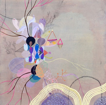 BETSY WALTON ABSTRACT PRETTY ARTWORK