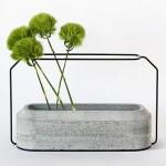 Sunday Bouquet: Green Poms in Concrete