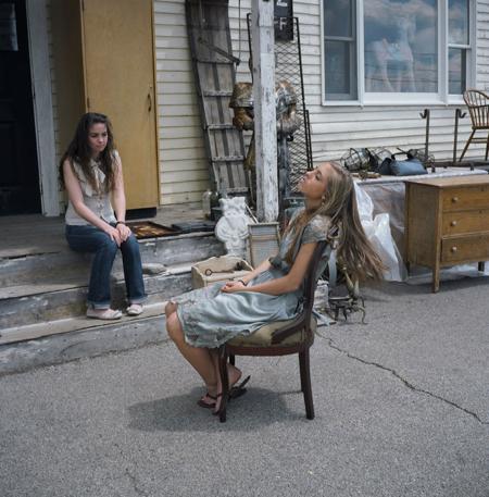 Ranee Palone Flynn Girl on Street in Chair