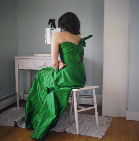 Ranee Palone Flynn Girl in Green at Vanity Table