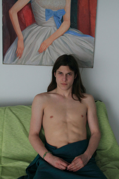 Ranee Palone Flynn Young Man on Green Sofa
