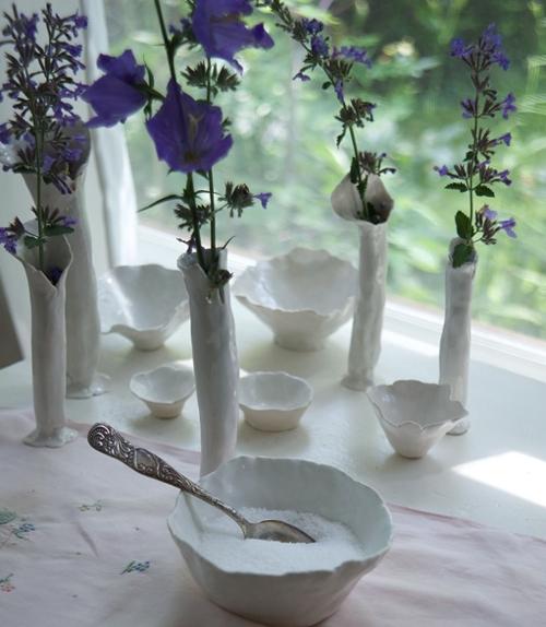 Snowbound Pottery Anna Kasabian Vases On Windowsill
