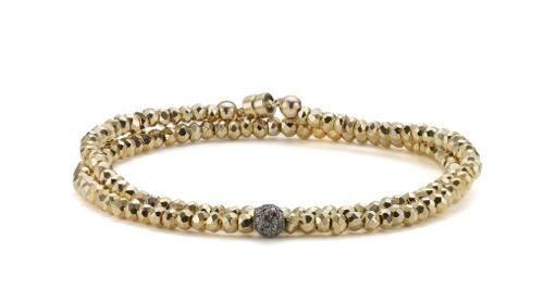 Gold Pyrite Bracelet Pave Bead Sheryl Love