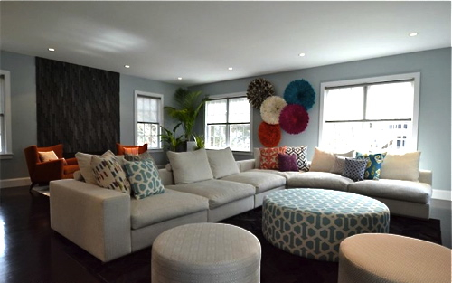 Farmily Room Designed By Color Theory