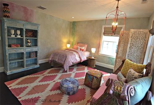 Color Theory Girls Bedroom Boho