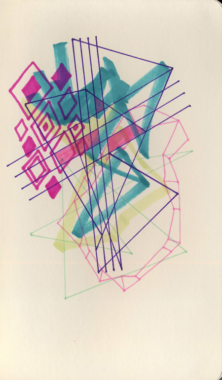 Jaime Derringer Abstract Art Sketch