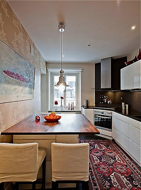 oriental-rug-in-sleek-kitchen-via-home-bunch