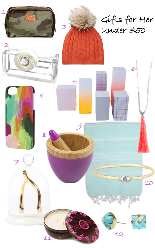 Gift Guide Presents For Women Under $50