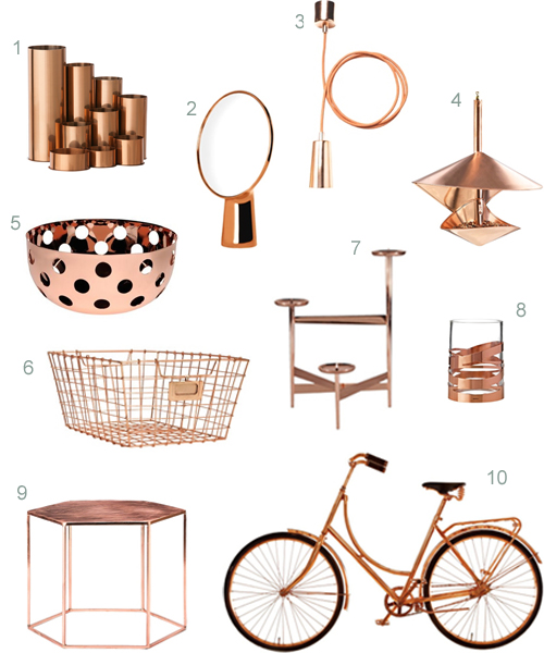 Get the look 40 modern copper home accessories stylecarrot Home design kitchen accessories