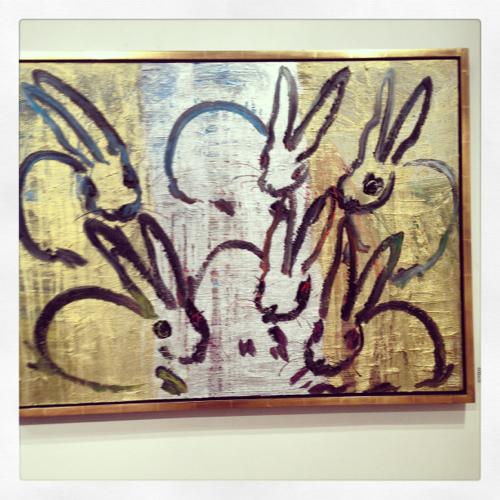 hunt-slonem-gold-metallic-bunnies