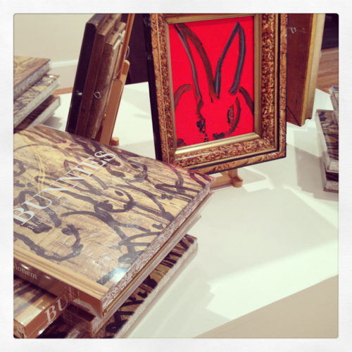 hunt-slonem-red-bunny-and-book