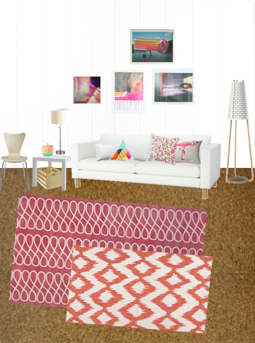 Geometric Ikat Chevron Pattern Area Rugs