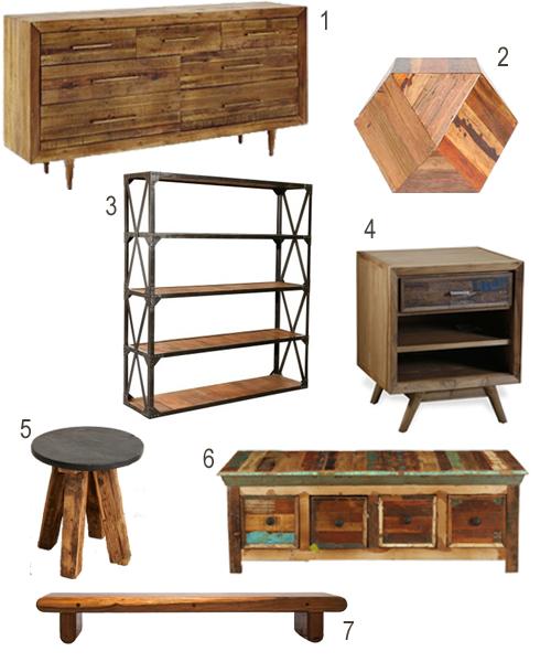 Reclaimed Wood Dresser Nightstand Chest Stool Bookshelf