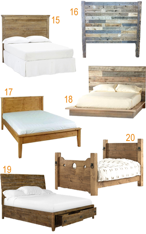 Reclaimed Wood Beds Rustic Furniture