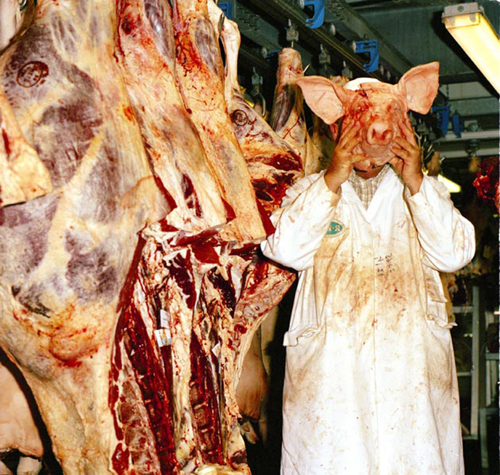 mask-pig-head-rachel-kumba-saatchi-art