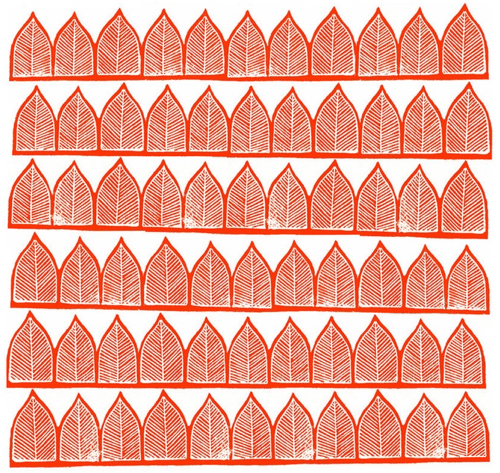 Red Block Print Of Arches At Minted