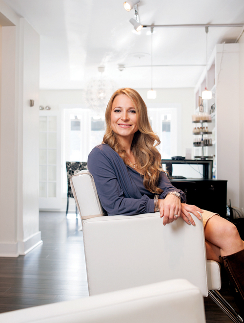 Hair stylist Kristen Moshiek