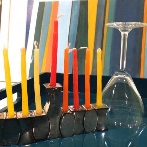 Modern Menorah From MoMA Store Tray From CB2