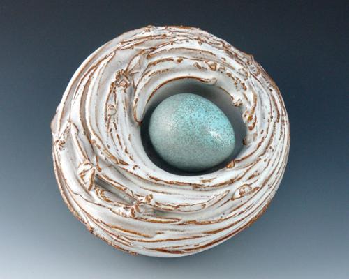 white-bird-nest-sculpture
