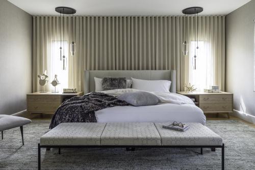 Modern tudor renovation by hacin associates for Tudor style bedroom