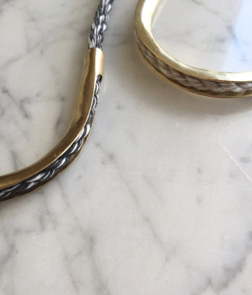 Brass & Rope Architectural Jewelry By The Things We Keep