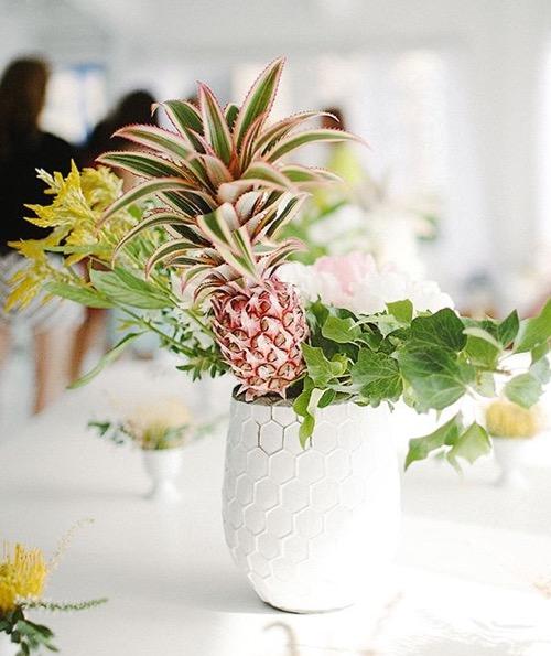 Sunday bouquet pineapple centerpiece