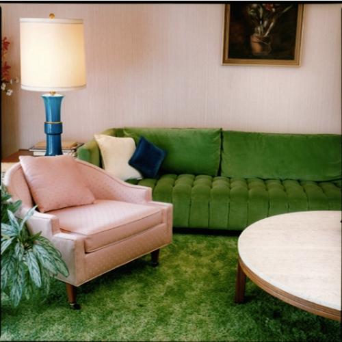 Stefanie Klavens Interior Photograph Pink & Green Living Room