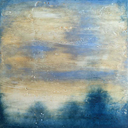 Abstract Encaustic By Boston Artist Linda Cordner At Webster & Co.