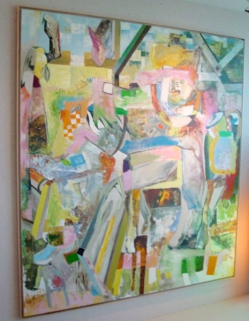 Abstract Painting Cowboy Cake By Jennifer Amadeo-Holl