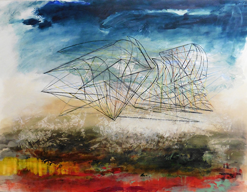 Abstract Painting By Boston Artist Dean Nimmer