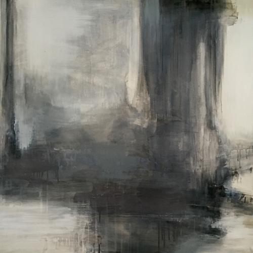 New England Artist Jen Bradley Abstract Painting Paradise Series