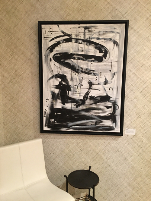 Jen Kelly Black & White Abstract Painting At Webster & Co. BDC