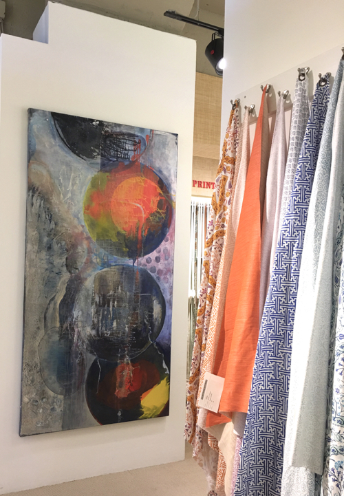 Cape Cod Artist Joe Diggs Abstract Painting At Webster & Co. BDC