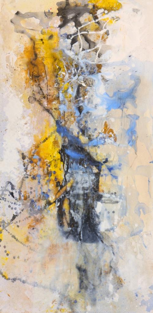 Joe Diggs Abstract Panel At Webster & Co