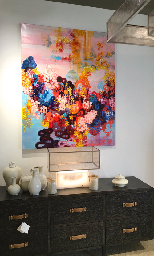 Sarah Lutz's Marine Inspired Abstract Painting at Webster & Company