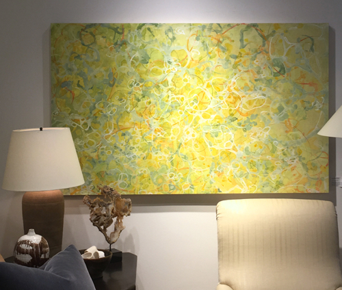 Meg Brown Payson Yellow Abstract Painting