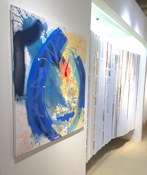 Steve Barylick's Colorful Abstract Painting at Webster & Company