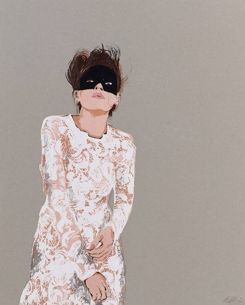 Masquerade Ball Portrait Affordable Artwork