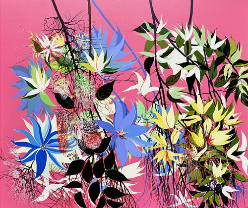 Contemporary Indian Artist Kishore Kumar's Flower Paintings