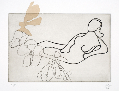 Nude Drawing Print By Contemporary Indian Artist Vani Sayeed