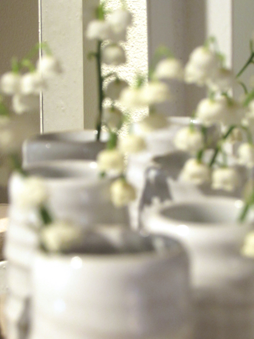 White Flowers In Vase By Farmhouse Pottery At Good Beacon Hill