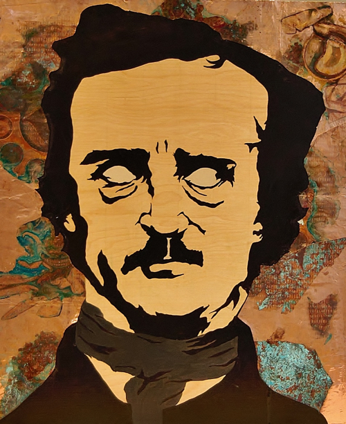 Painting of Edgar Allen Poe By Hilary Tait Norod